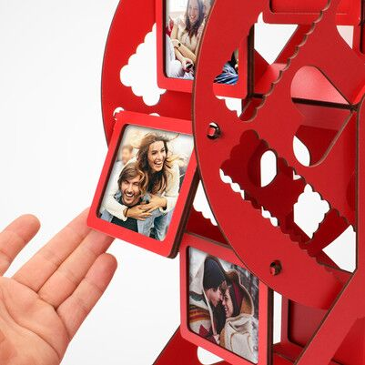 Kişiye Özel Kırmızı Dönme Dolap Fotoğraf Çerçevesi - Thumbnail