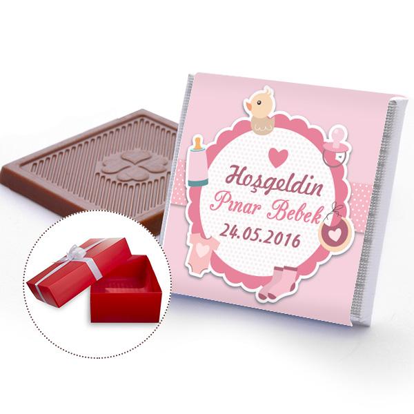 Kişiye Özel Kız Bebek Çikolatası