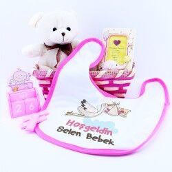 Kişiye Özel Kız Bebek Hediye Sepeti - Thumbnail