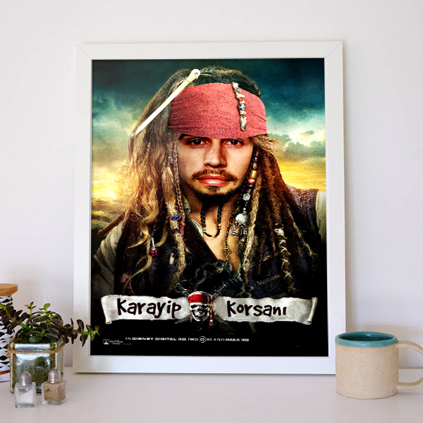 Kişiye Özel Korsan Temalı Film Afişi