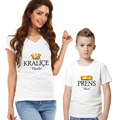 - Kişiye Özel Kraliçe ve Prens 2'li Tişörtleri