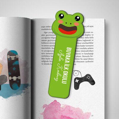 - Kişiye Özel Kurbağa Kitap Ayracı