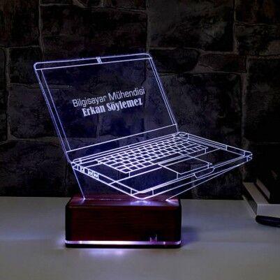 - Kişiye Özel Laptop 3D LED Lamba