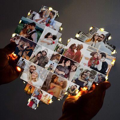 Kişiye Özel Led Işıklı Kalp Pano - Thumbnail