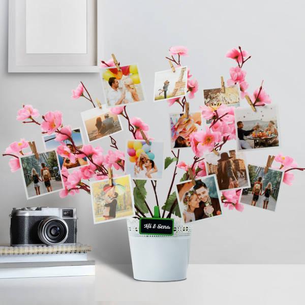 Kişiye Özel Mandallı Fotoğraflı Ağaç