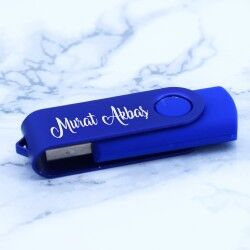 Kişiye Özel Mavi USB Bellek 8GB - Thumbnail