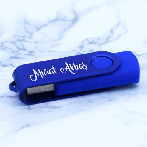 Kişiye Özel Mavi USB Bellek 8GB