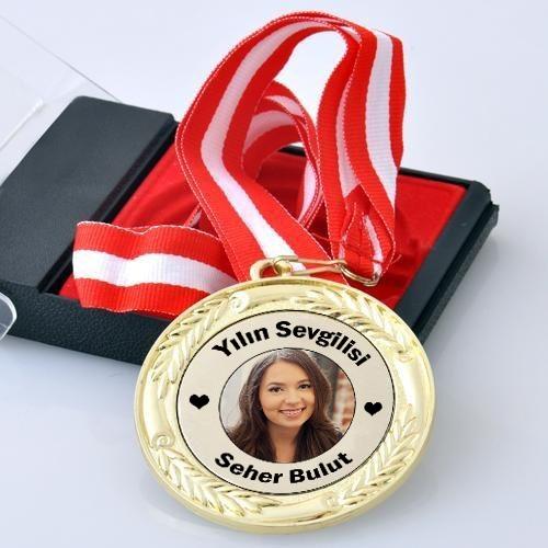 Kişiye Özel Mesaj ve Fotoğraflı Madalyon