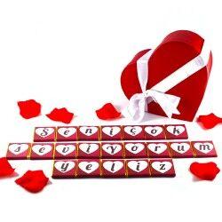 Kişiye Özel Mesajlı Harf Çikolata - Thumbnail