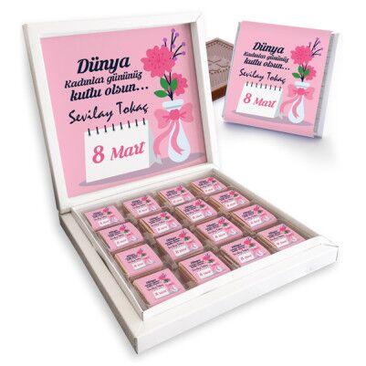 - Kişiye Özel Mesajlı Kadınlar Günü Çikolatası