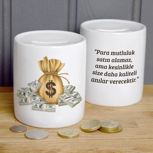 Kişiye Özel Mesajlı Para Kumbarası