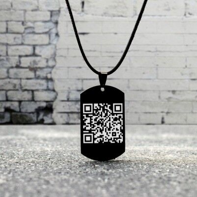 - Kişiye Özel Mesajlı QR Kod Kolye