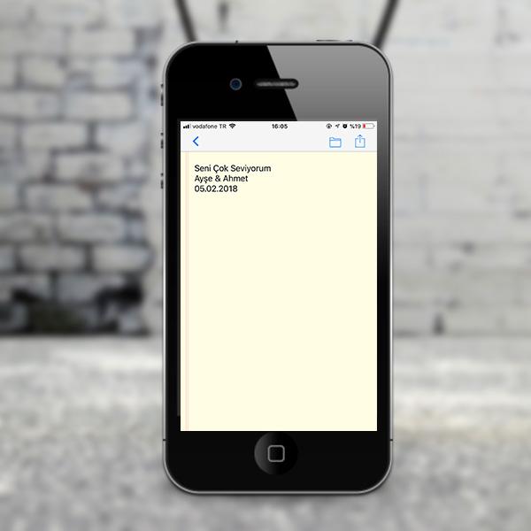 Kişiye Özel Mesajlı QR Kod Kolye