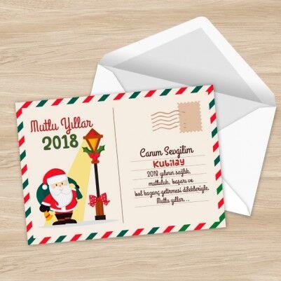- Kişiye Özel Mutlu Yıllar Posta Kartı