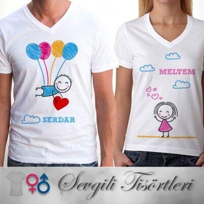 - Kişiye Özel Mutluluğun Resmi Sevgili Tişörtleri