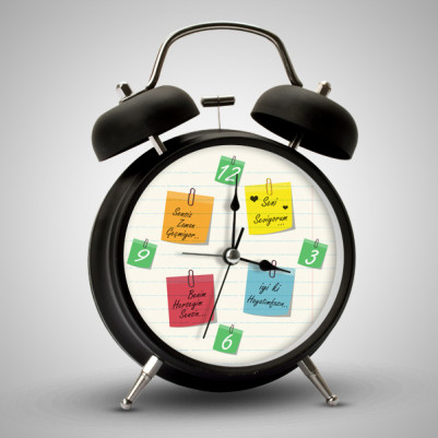 - Kişiye Özel Notlu Çalar Saat