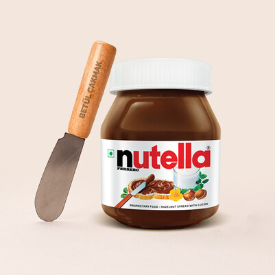 - Kişiye Özel Nutella Sürme Bıçağı