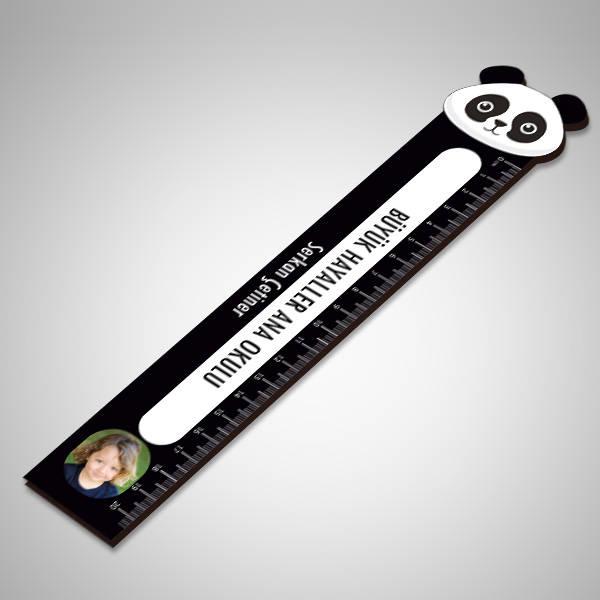Kişiye Özel Panda Tasarımlı Cetvel