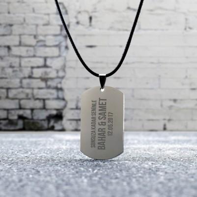 Kişiye Özel Paslanmaz Çelikten Asker Künyesi - Thumbnail