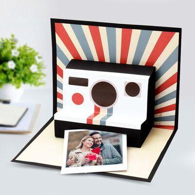 Kişiye Özel Polaroid Pop Up Card - Thumbnail