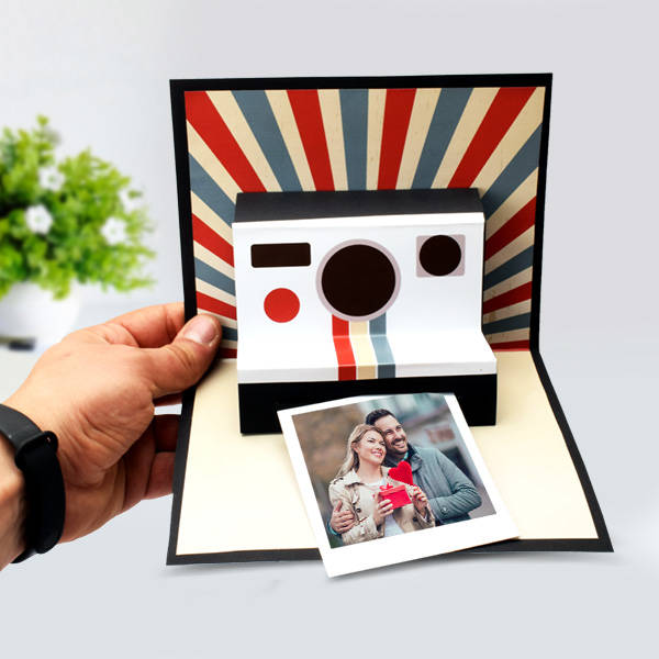 Kişiye Özel Polaroid Pop Up Card
