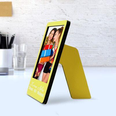 Kişiye Özel Polaroid Resim Çerçevesi Sarı - Thumbnail