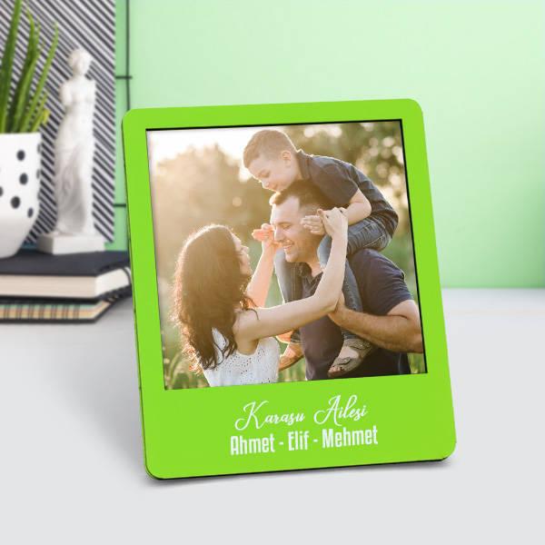 Kişiye Özel Polaroid Resim Çerçevesi Yeşil