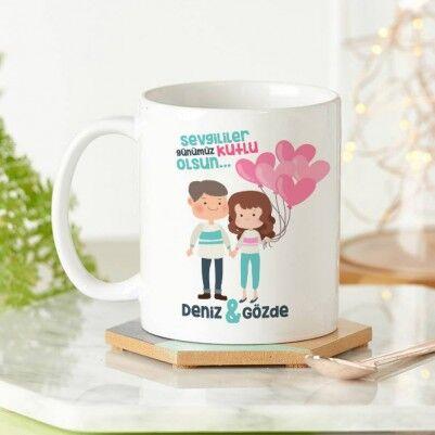 - Kişiye Özel Popçik Sevgililer Kupa Bardak
