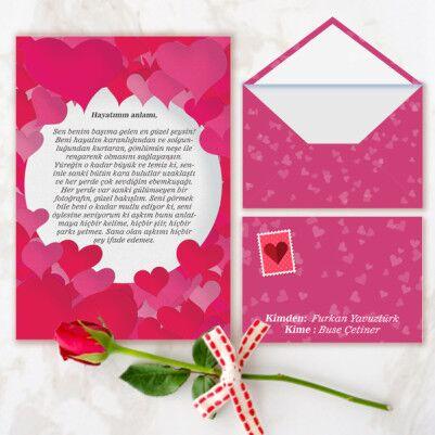 - Kişiye Özel Romantik Aşk Mektubu