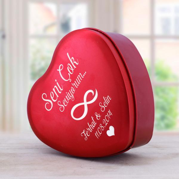 Kişiye Özel Romantik Kalp Hediye Kutusu