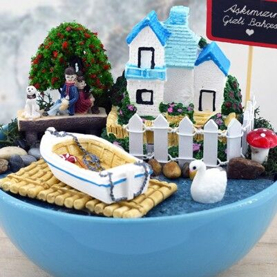 Kişiye Özel Romantik Minyatür Bahçe - Thumbnail