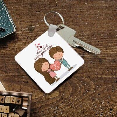 - Kişiye Özel Romantik Tasarımlı Anahtarlık