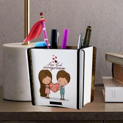 - Kişiye Özel Romantik Tasarımlı Kalemlik