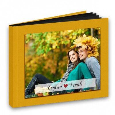 Kişiye Özel Sarı Kapaklı Foto Kitap Albüm - Thumbnail