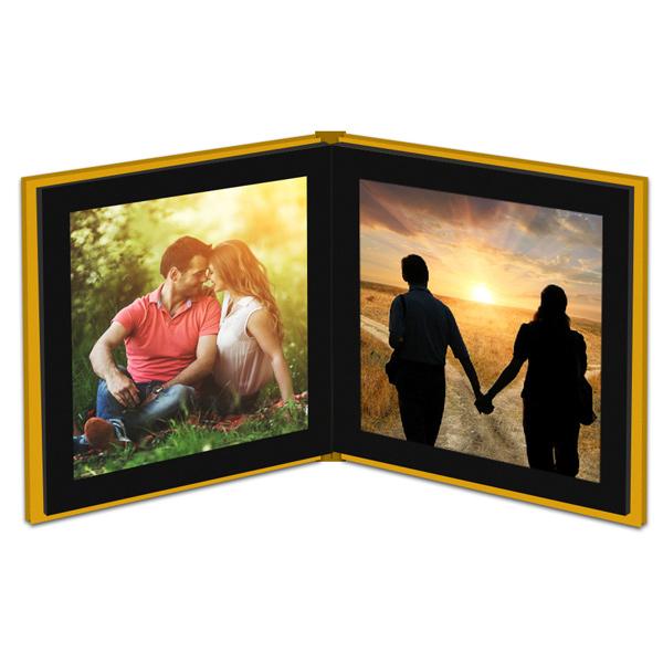 Kişiye Özel Sarı Kapaklı Foto Kitap Albüm