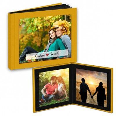 - Kişiye Özel Sarı Kapaklı Foto Kitap Albüm