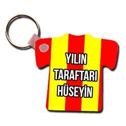 - Kişiye Özel Sarı Kırmızı Taraftar Anahtarlık