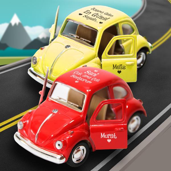 Kişiye Özel Sarı Kırmızı Vosvos Araba