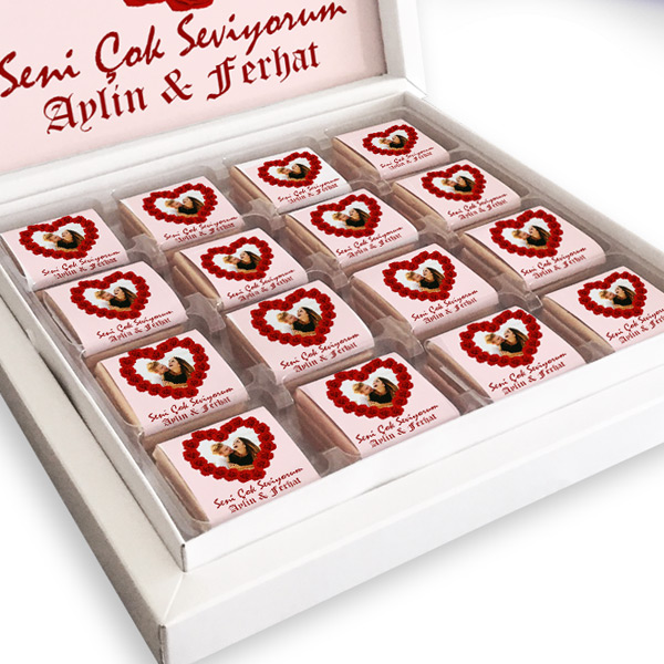 Kişiye Özel Seni Çok Seviyorum Çikolataları