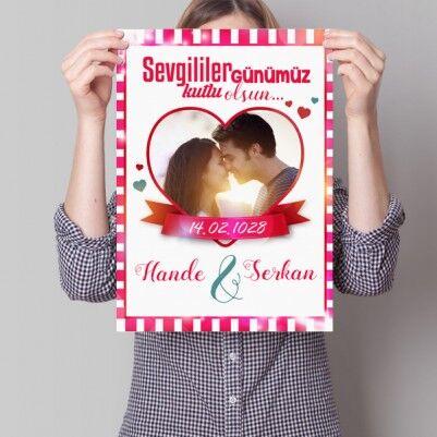 - Kişiye Özel Sevgililer Günü Aşk Posteri