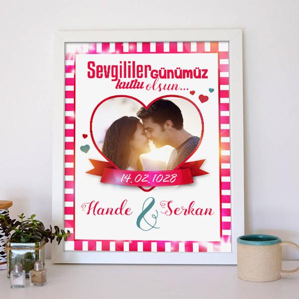 Kişiye Özel Sevgililer Günü Aşk Posteri