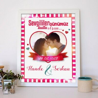 Kişiye Özel Sevgililer Günü Aşk Posteri - Thumbnail