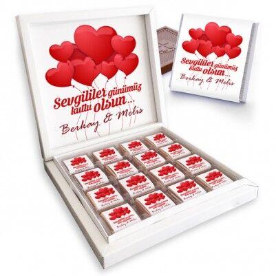 - Kişiye Özel Sevgililer Günü Çikolatası
