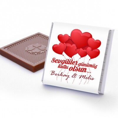 Kişiye Özel Sevgililer Günü Çikolatası - Thumbnail