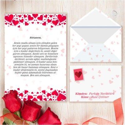 - Kişiye Özel Sevgiliye Aşk Mektubu