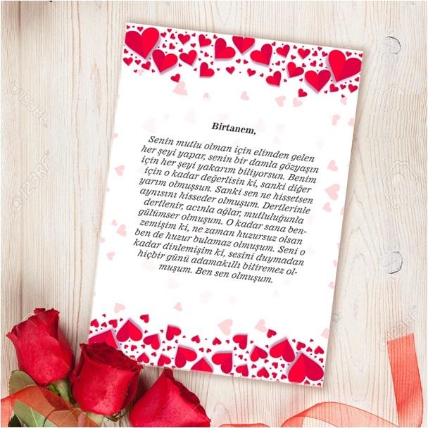Kişiye Özel Sevgiliye Aşk Mektubu