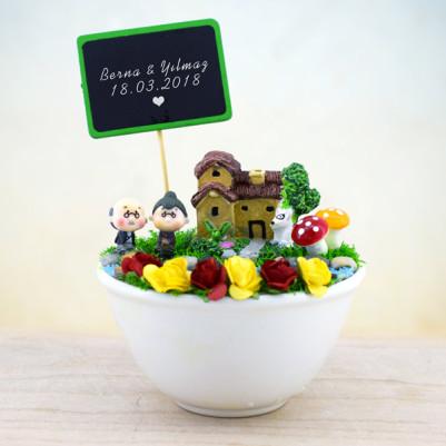 - Kişiye Özel Sevimli Çiftler Minyatür Bahçe