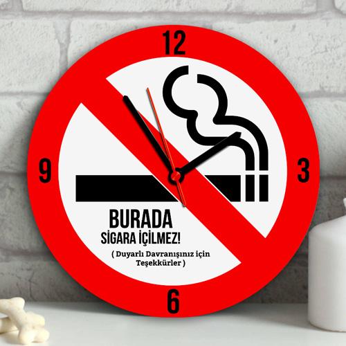 Kişiye Özel Sigara İçilmez Duvar Saati