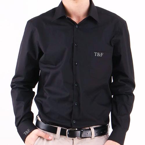 Kişiye Özel Siyah Erkek Gömleği