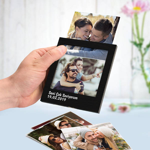Kişiye Özel Siyah Polaroid Fotoğraf Albümü